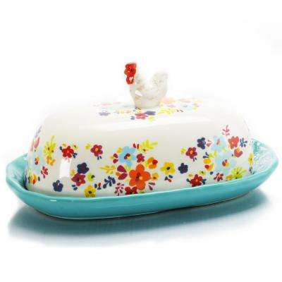 Life On The Farm 9.33 in. Figural Butter Dish