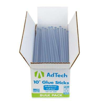 10 in. x 7/16 in. Dia Hot Melt Multi Temperature Full Size Glue Sticks (5 lb. Bulk Pack)