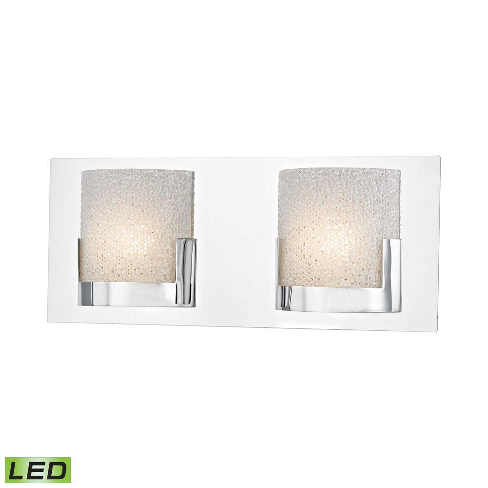 Titan Lighting Ophelia 2-Light Chrome and Clear Glass LED...