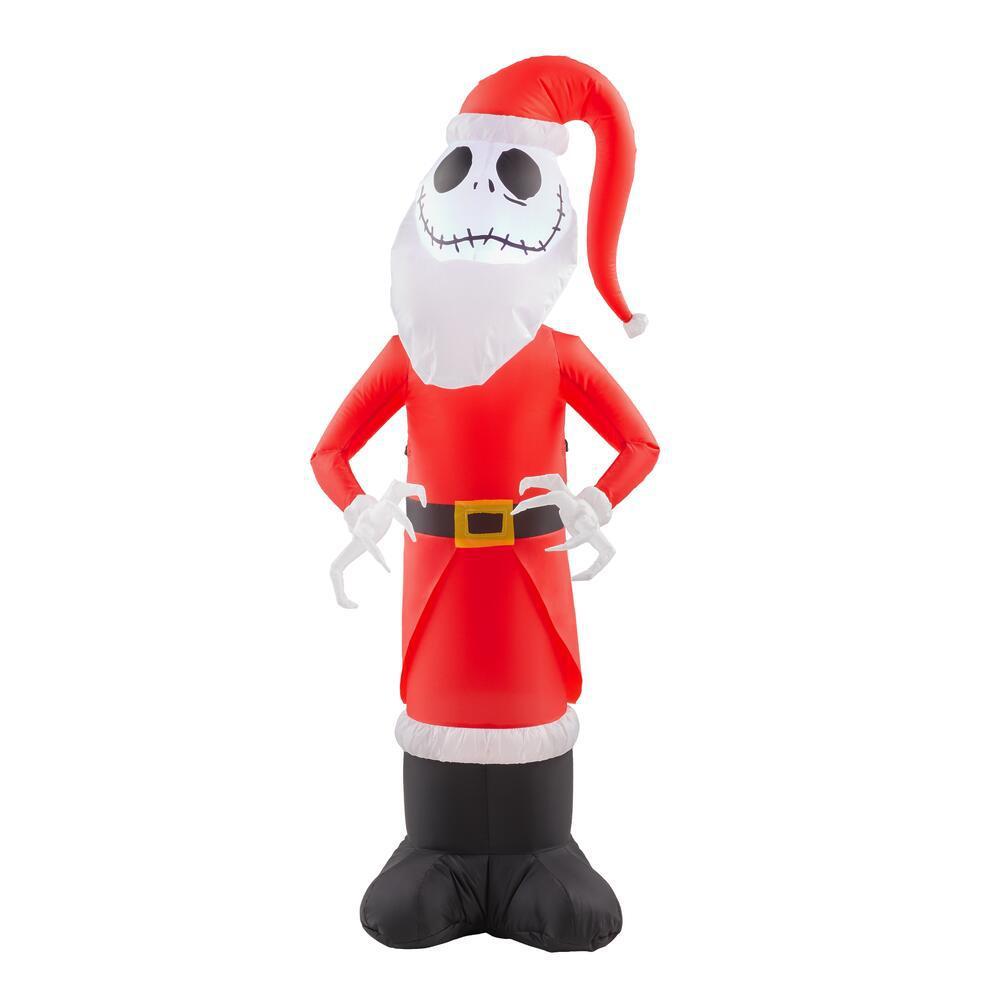 4 ft. Inflatable Jack Skellington as Santa