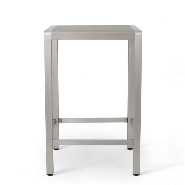 Cape Coral Grey Square Aluminum Outdoor Dining Table