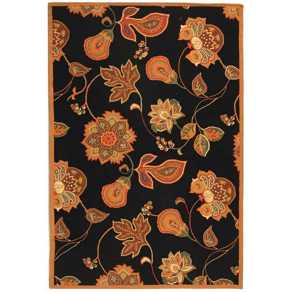 Safavieh Chelsea Black/Orange 5 ft. 3 in. x 8 ft. 3 in. Area Rug