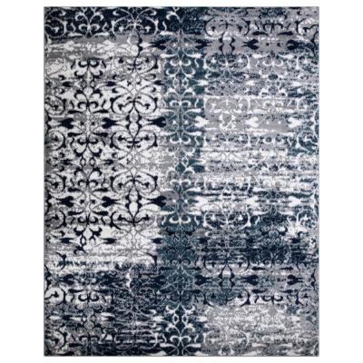 Jasmin Collection Floral Design Multi-Color 7 ft. 8 in. x 9 ft. 8 in. Area Rug