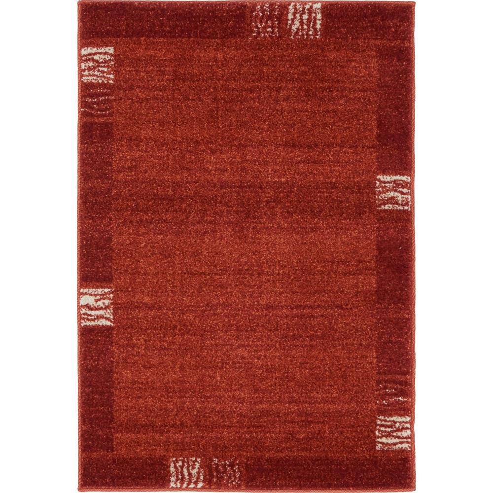 Del Mar Rust Red 2 ft. 2 in. x 3 ft. Area Rug