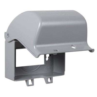 1-Gang Weatherproof Extra Duty In-Use Gray Horizontal Cover