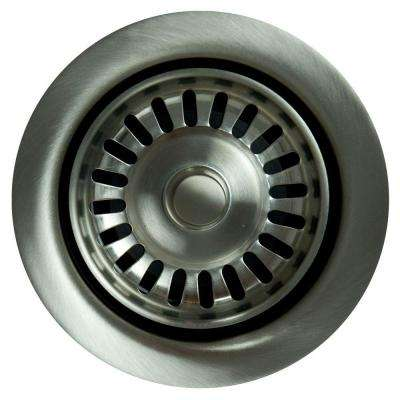 Garbage Disposal Stopper/Strainer in Brushed Stainless Steel