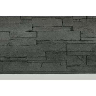 Dry Stacked Stone 41-1/2 in. x 13-1/8 in. Anthracite Siding (10-Pack)