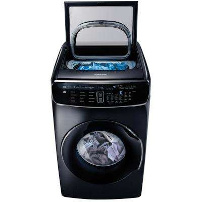 6.0 Total cu. ft. High-Efficiency FlexWash Washer in Black Stainless Steel