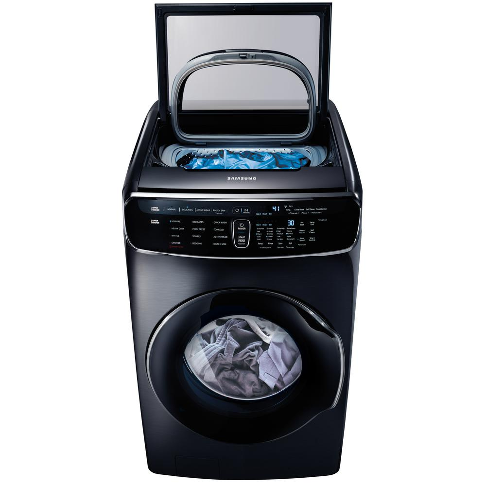 Samsung 6.0 Total cu. ft. High-Efficiency FlexWash Washer in Black Stainless
