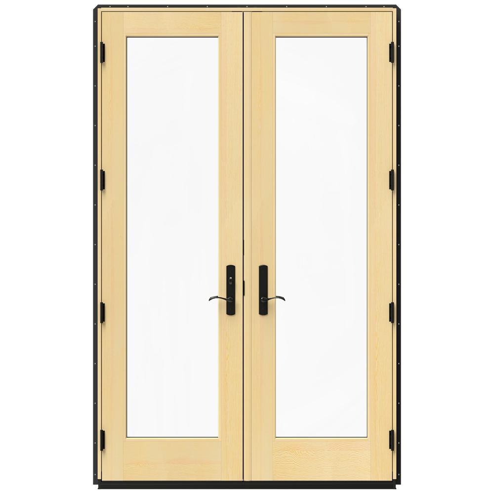 JELD WEN 5925 In X 955 In W 4500 Chestnut Bronze French Wood Chestnut  Bronze Jeld Wen Patio Doors Thdjw155600241 64 1000 301431294