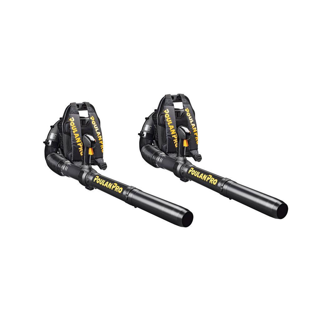 46cc Gas Backpack 220 MPH Air Speed 490 CFM Flow Yard Leaf Blower (2 Pack) (Certified Refurbished)