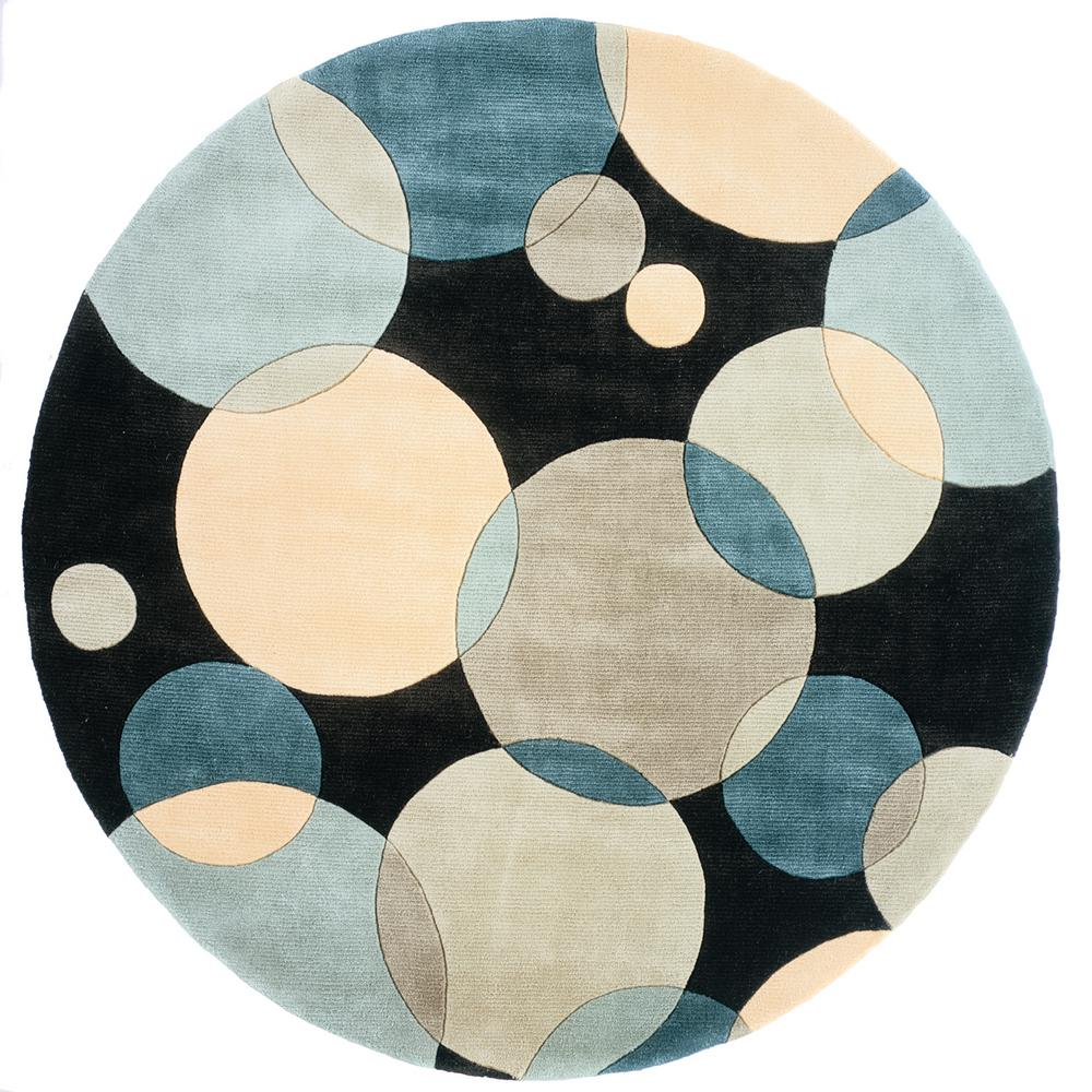 Momeni Contempo Teal 7 Ft. 9 In. Round Area Rug-NEWWANW