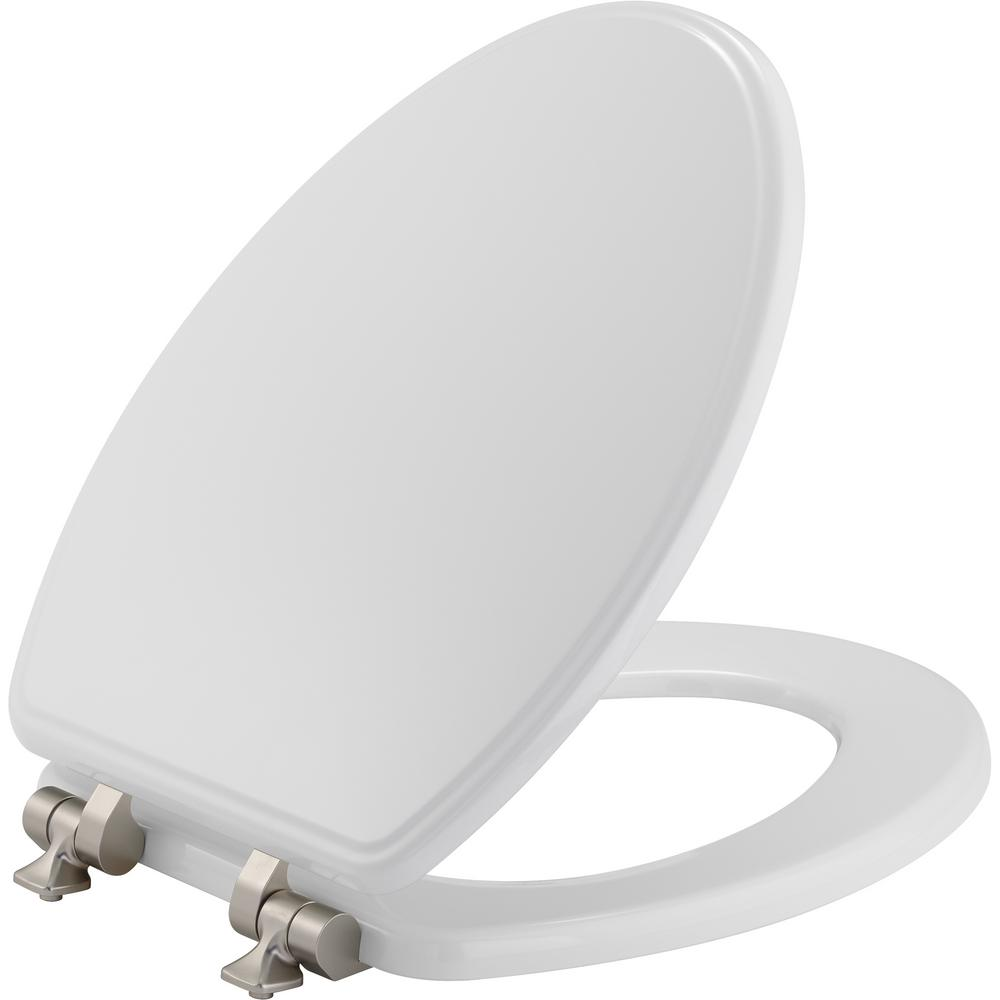 Peachy Bemis Slow Close Elongated Closed Front Toilet Seat In White Pdpeps Interior Chair Design Pdpepsorg