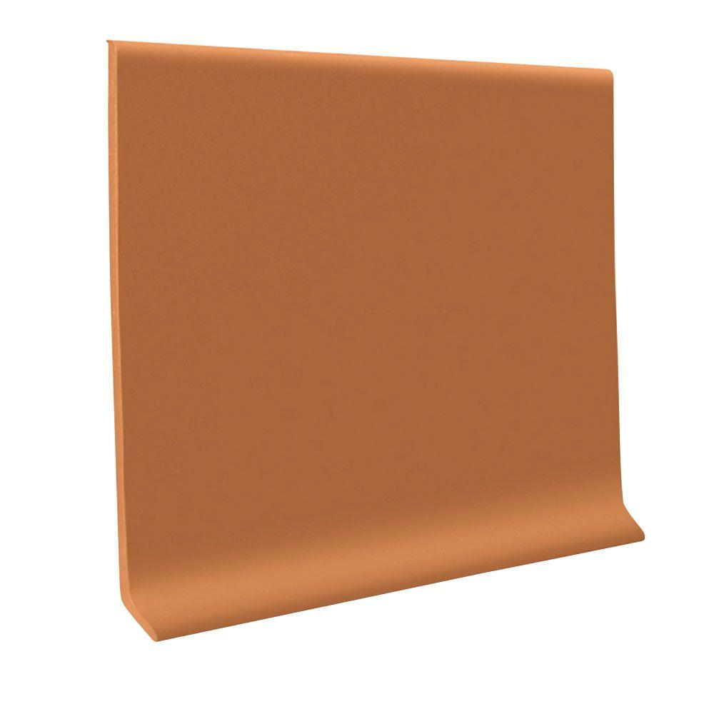 Pinnacle Rubber Terracotta 4 in. x 48 in. x 1/8 in. Wall Cove Base (30-Pieces)