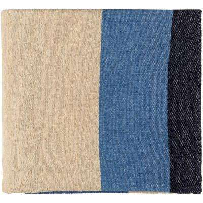 Marello Blue Cotton Throw