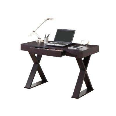 Espresso Trendy Writing Desk with Drawer