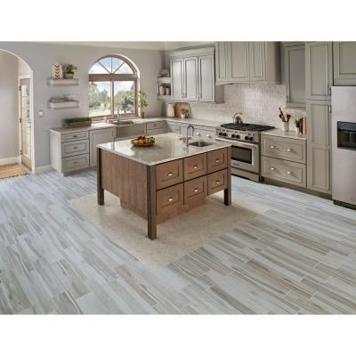 Carolina Timber White 6 in. x 36 in. Matte Ceramic Floor and Wall Tile (15 sq. ft. / case)