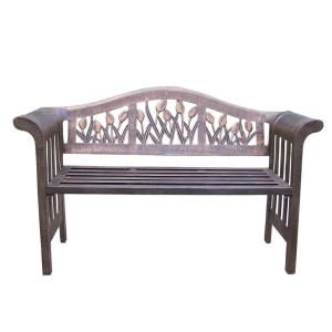 Tulip Royal Aluminum Outdoor Bench by