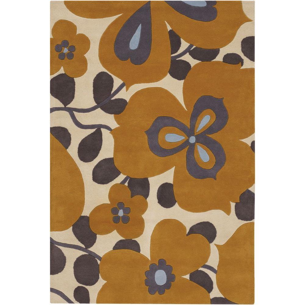 Amy Butler Cream/Orange 7 ft. 9 in. x 10 ft. 6 in. Indoor Area Rug