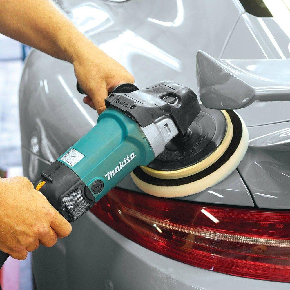 Makita 9237C 10 Amp 7-Inch Variable Speed Polisher//Sander for detailing and polishing