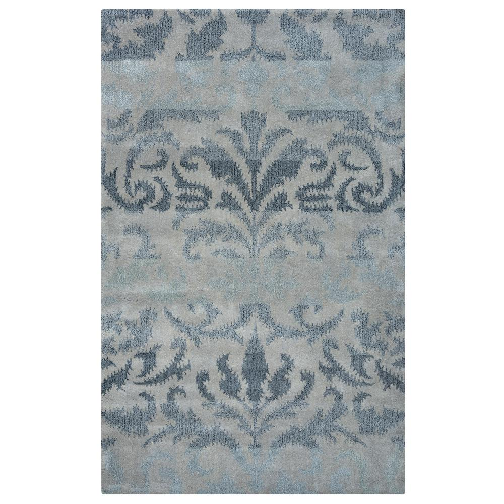 Volare Blue Ikat Hand Tufted Wool 2 ft. x 3 ft.