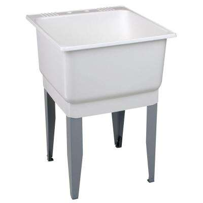 Utilatub 23 in. x 25 in. Polypropylene Floor Mount Laundry Tub
