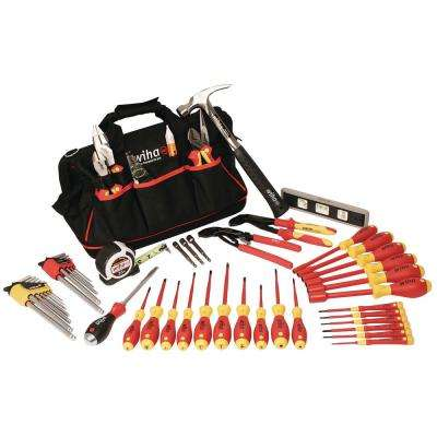 59-Piece Insulated Master Electrician's Tools Set