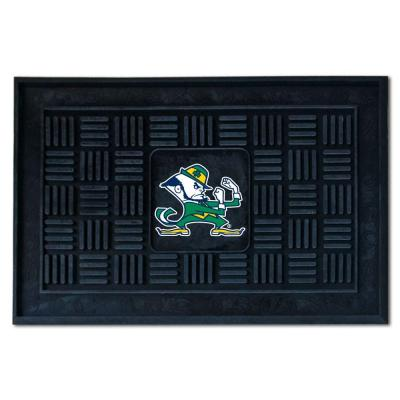 NCAA Notre Dame Black 19.5 in. x 31.25 in. Medallion Door Mat