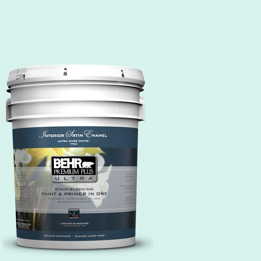 5-gal. #480A-1 Minted Ice Satin Enamel Interior Paint