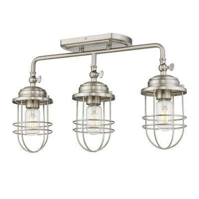 Seaport 3-Light Pewter Track/Semi-Flush Mount Light