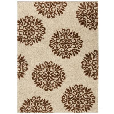 Mohawk Home Exploded Medallions Biscuit 10 ft. x 14 ft. Indoor Area Rug