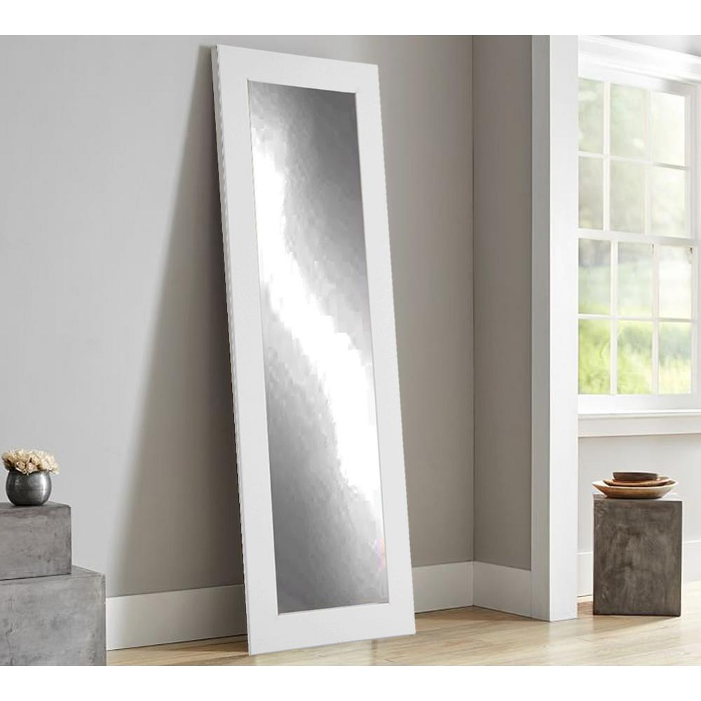 Modern Matte White Full Length Framed Mirror