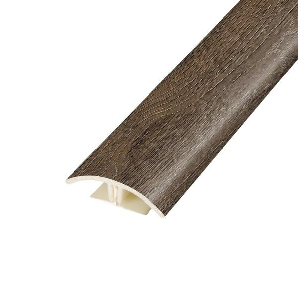 Antique Brushed Oak 0.37 in. Thick x 1.75 in. Wide x 78.7 in. Length Vinyl 2-in-1 Molding