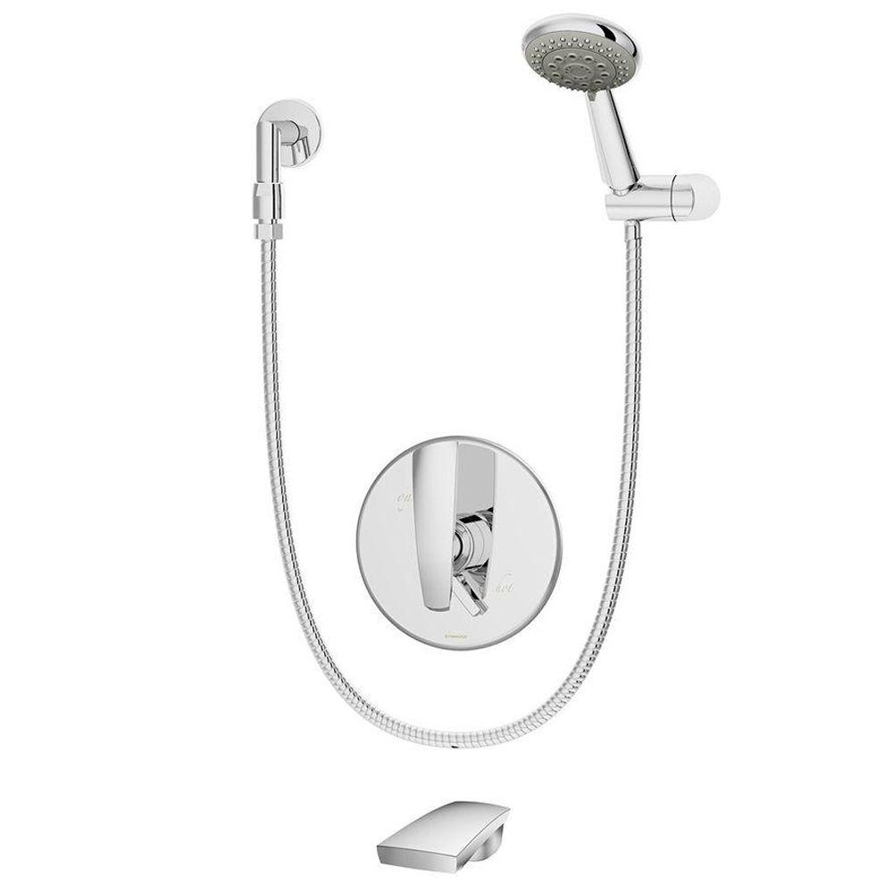 Symmons Naru 1-Handle 3-Mode Tub/Shower System in Chrome (Valve ...