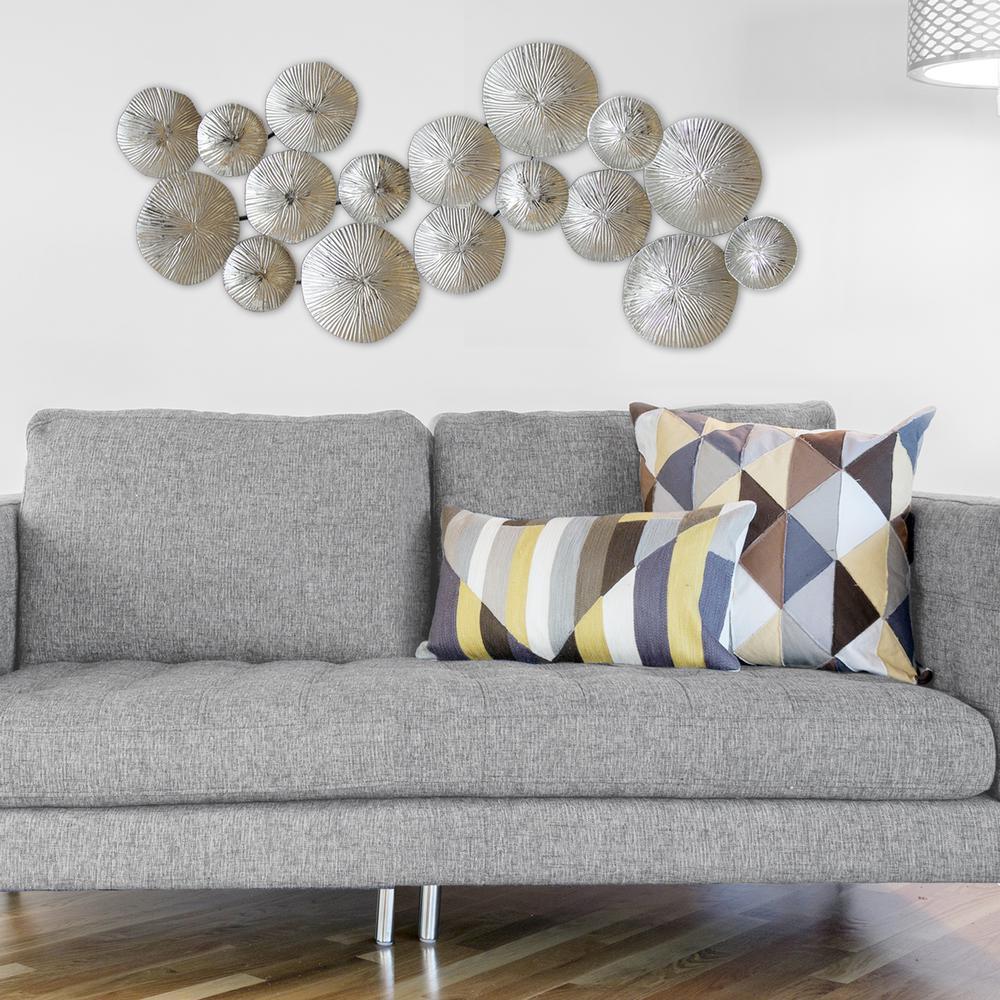 Stratton Home Decor Silver Circles Metal Wall