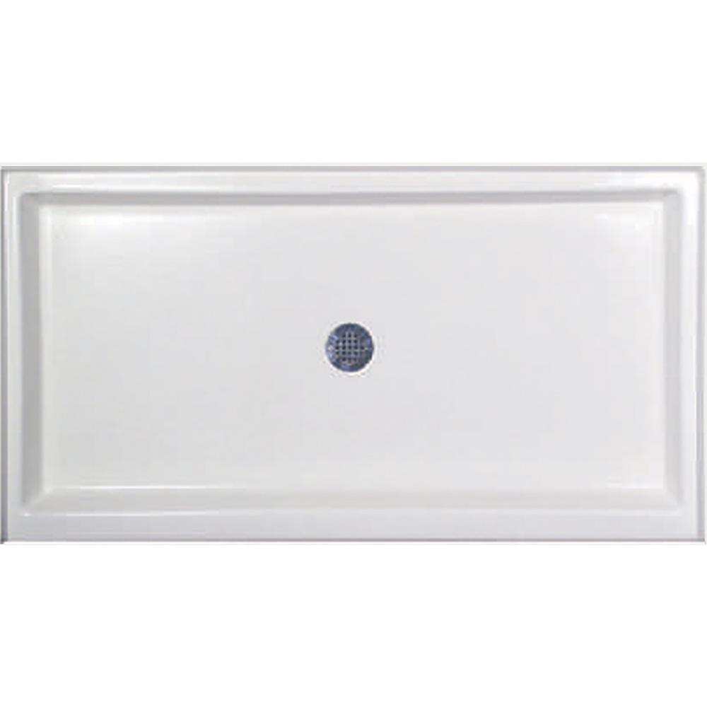 Hydro Systems 60 in. x 33 in. Single Threshold Shower Base in White