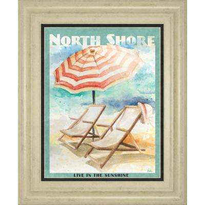 """22 in. x 26 in. """"Shore Poster II"""" by Patricia Pinto Framed Printed Wall Art"""