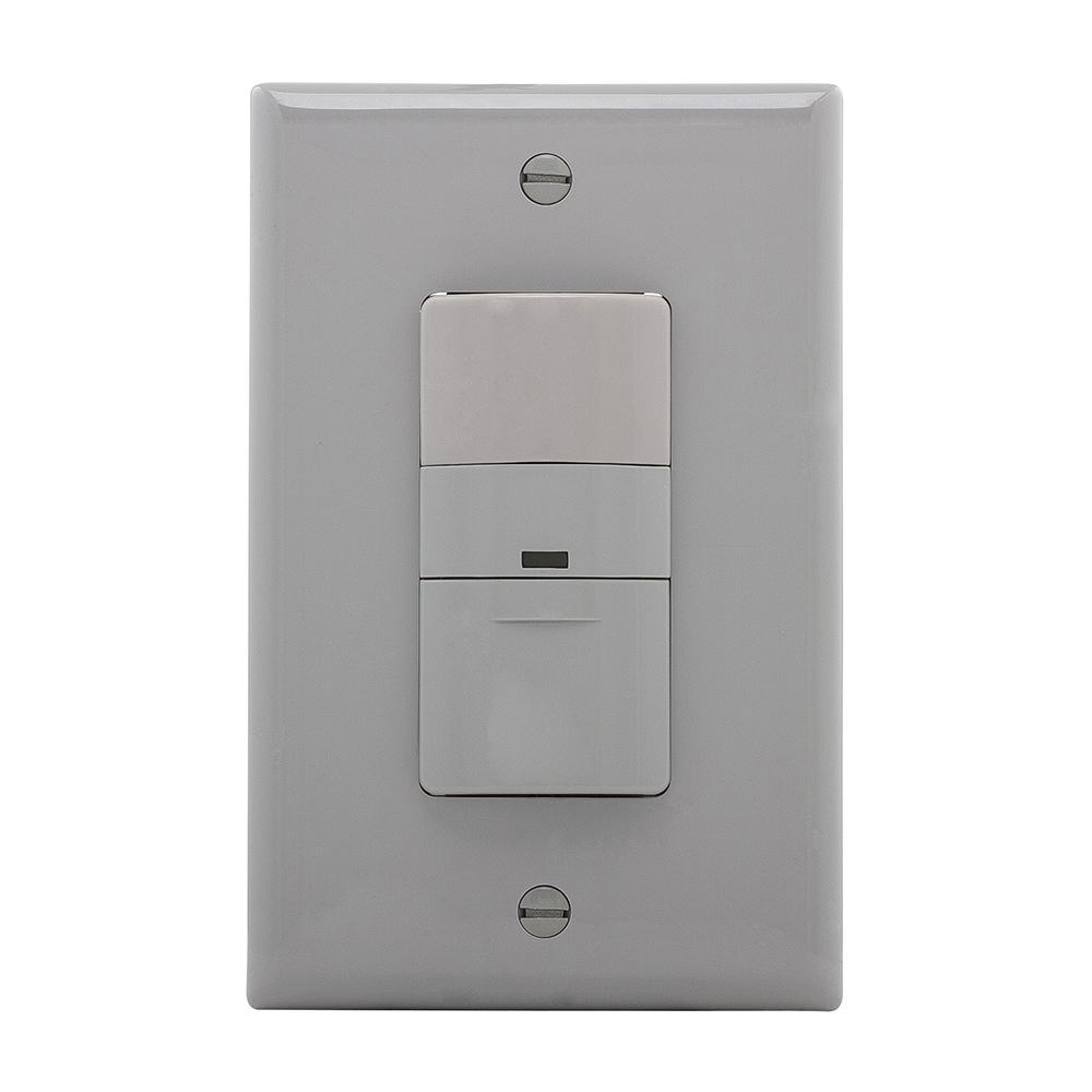 Eaton 5 Amp 3-Way Wall Mount Occupancy Sensor, Gray-OS306U-GY - The ...