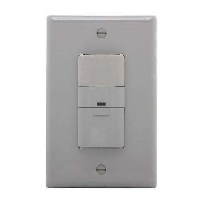 5 Amp 3-Way Wall Mount Occupancy Sensor, Gray