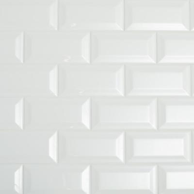 Restore Bright White 3 in. x 6 in. Ceramic Bevel Wall Tile (10 sq. ft. / case)
