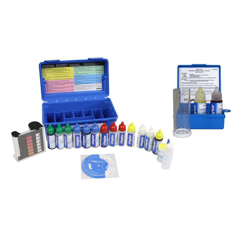 Complete Swimming Pool/Spa Test Kit Plus Sodium Chloride Salt Water Test