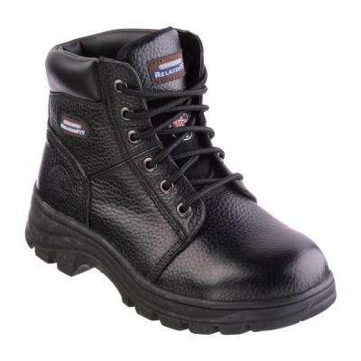 Workshire - Peril Women Size 7.5 Black Leather Work Boot