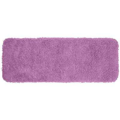 Jazz Purple 22 in. x 60 in. Washable Bathroom Accent Rug