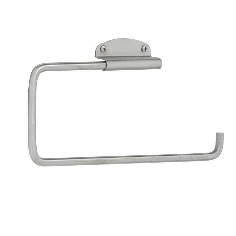 Interdesign Forma Swivel Wall Mount Paper Towel Holder In Brushed Stainless Steel 39370 The Home Depot