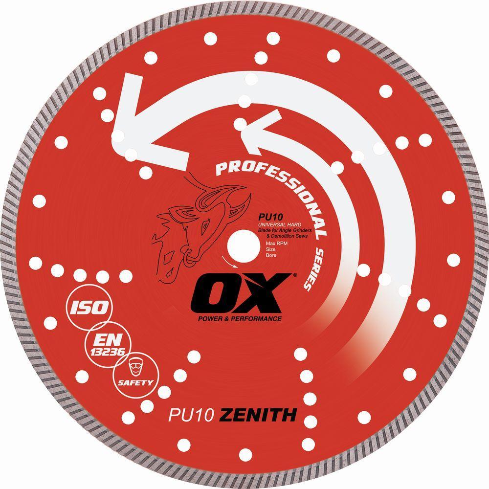OX Professional Universal 6 in. 7/8 in. - 5/8 in. Bore Diamond Blade