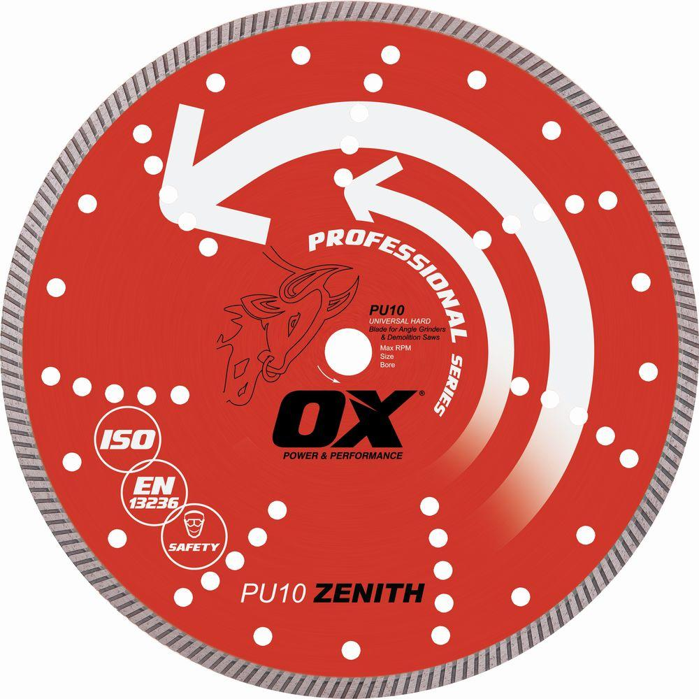 OX Professional Series Universal 5/8 in. Bore 8 in. Diamond Blade with 7/8 in. Diamond Knockout