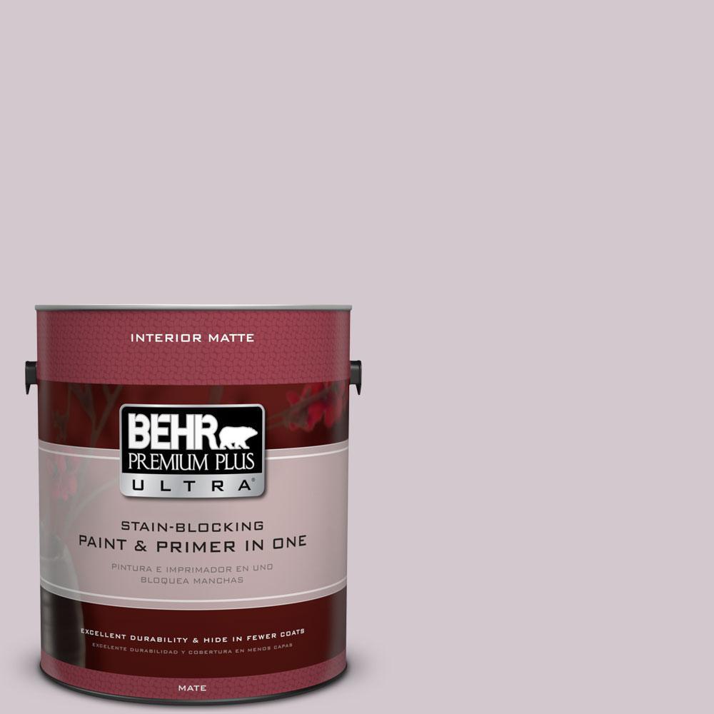 BEHR Premium Plus Ultra 1 gal. #N110-1 Dusty Lilac Matte Interior Paint