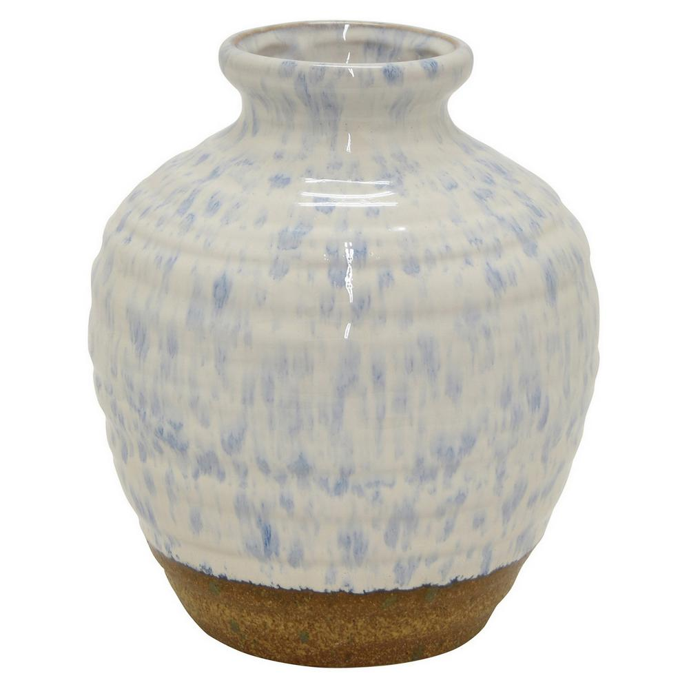 10 in. White Ceramic Decorative Vase
