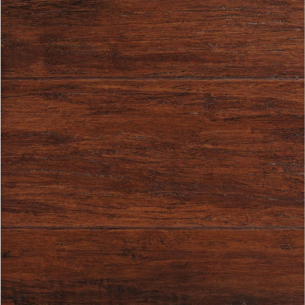 Hardwood Floors Home Depot Part - 28: Home Decorators Collection Hand Scraped Strand Woven Brown 3/8 In. T X  5-1/8 In. W X 36 In. L Engineered Click Bamboo Flooring-YY1001 - The Home  Depot