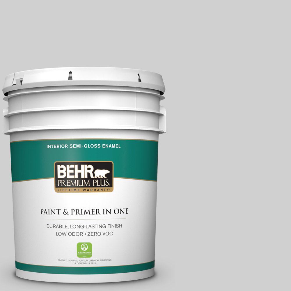5 gal. #N520-1 White Metal Semi-Gloss Enamel Zero VOC Interior Paint